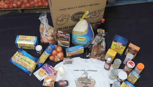 Basket of Love - a crate with food, each weighing over 50 lbs.